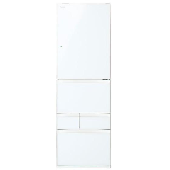 【送料無料】東芝 GR-P41GXV(EW) グランホワイト [5ドア冷蔵庫(411L・右開き)] 【代引き・後払い決済不可】【離島配送不可】