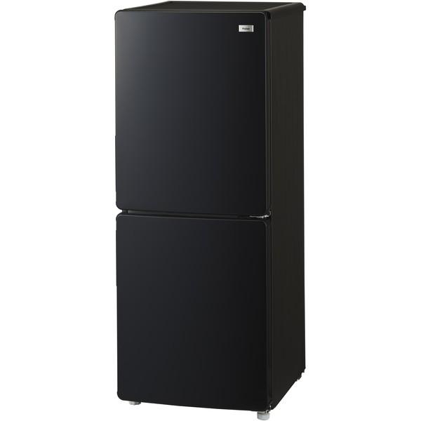 冷蔵庫 一人暮らし 新生活 2ドア 148l 右開き ハイアール JR-NF148B-K ブラック 3段引出し式冷凍室デザイン家電 おしゃれ 耐熱性能天板 強化ガラストレイ コンパクト