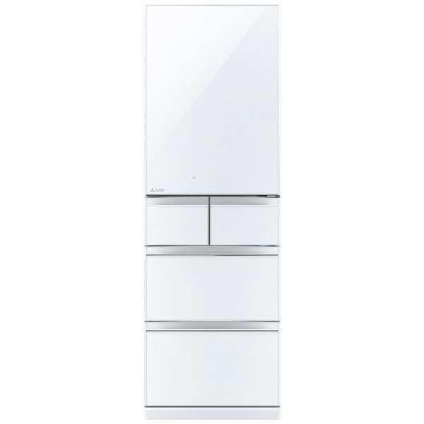 【送料無料】MITSUBISHI MR-B46D-W クリスタルピュアホワイト 置けるスマート大容量 Bシリーズ [冷蔵庫 455L 右開き] 【代引き・後払い決済不可】【離島配送不可】