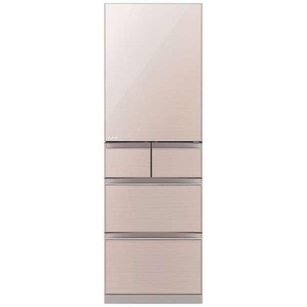 MITSUBISHI MR-B46D-F クリスタルピュアフローラル 置けるスマート大容量 Bシリーズ [冷蔵庫 455L 右開き] 【代引き・後払い決済不可】【離島配送不可】