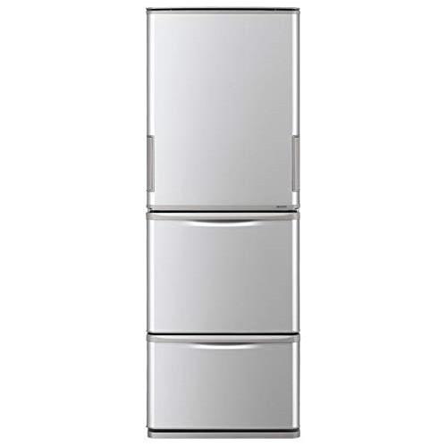 冷蔵庫 シャープ SHARP SJ-W351E シルバー 350L 右開き 左開き 両開き どっちもドア プラズマクラスター 節電 3ドア 同棲 カップル