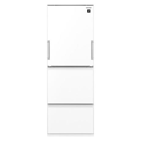 冷蔵庫 シャープ SHARP SJ-GW36E-W 白 ホワイト 350L 右開き 左開き 両開き どっちもドア プラズマクラスター 節電 3ドア 同棲 カップル