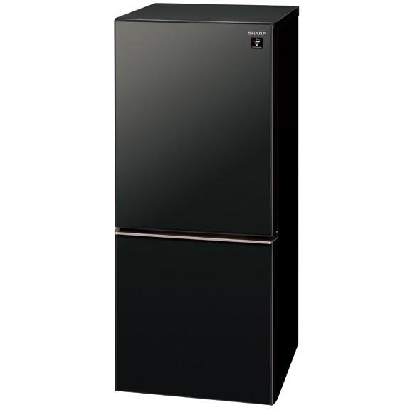 【送料無料】冷蔵庫 シャープ 140L SHARP SJ-GD14E-B 黒 SHARP ブラック 一人暮らし ガラスドア 右開き 137L 140L 小型 2ドア シンプル おしゃれ 右開き 左開き どっちもドア, 美方町:f9d7d552 --- sunward.msk.ru
