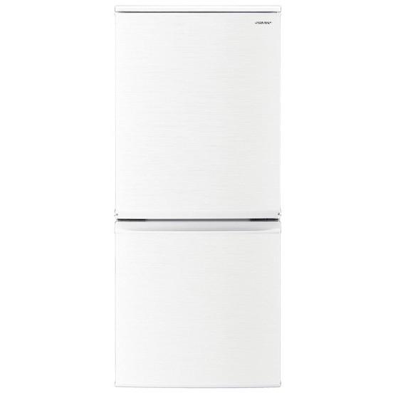 小型冷蔵庫 シャープ SHARP SJ-D14E-W 白 ホワイト 一人暮らし 単身 137L 140L 小型 2ドア シンプル おしゃれ 右開き 左開き どっちもドア シンプル
