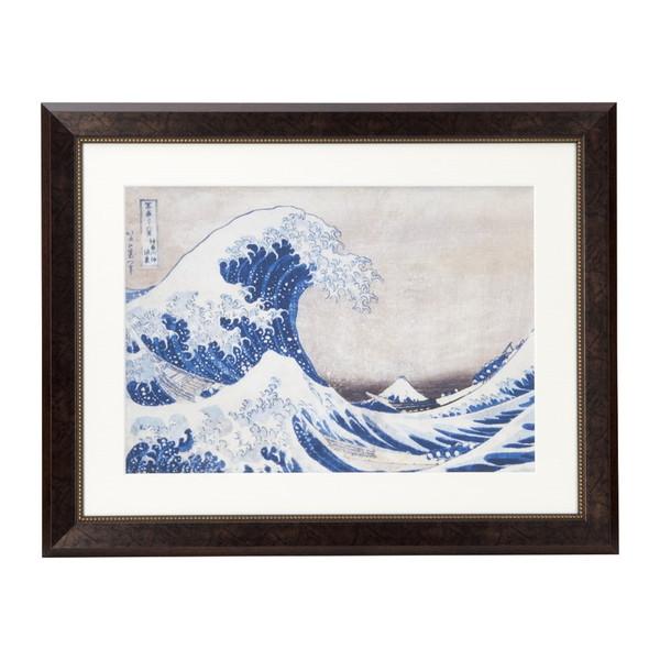 浮世絵額 北斎「神奈川沖浪浦」 N14-477