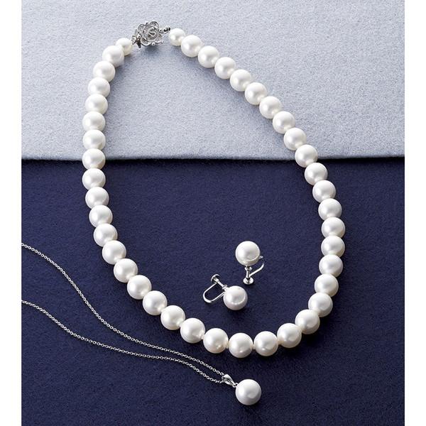 【送料無料】カンサイセレクション 花珠貝パール 3点セット ホワイト 29003W