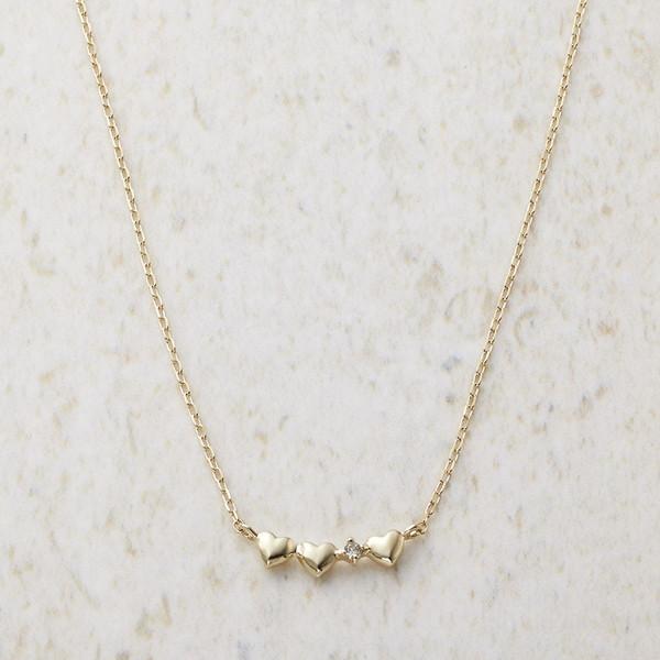 【送料無料】ルーシールーシー ダイヤモンド トリプルハートネックレス 3326