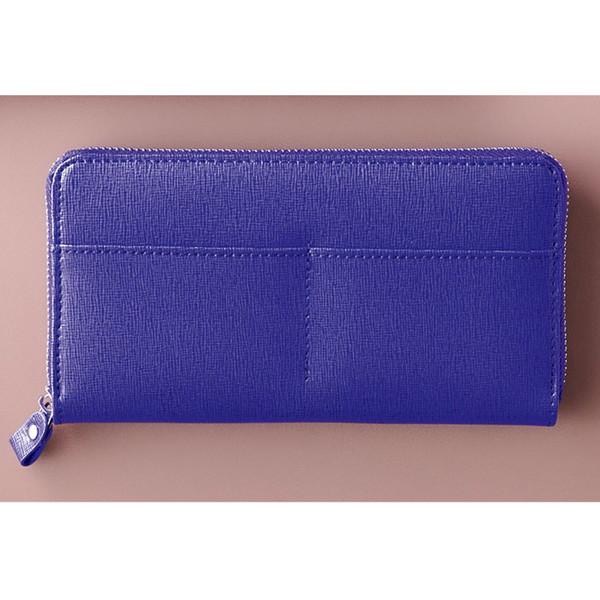 【送料無料】カンサイ ラウンドファスナー長財布 ブルー S-KSE14350BL