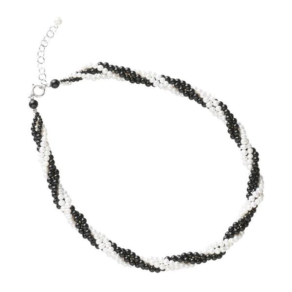 ユキコハナイ ねじり淡水ネックレス A-YHMP151203