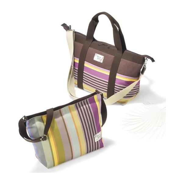 【送料無料】フレンチバスク バッグセット ブラウン BSQ85250