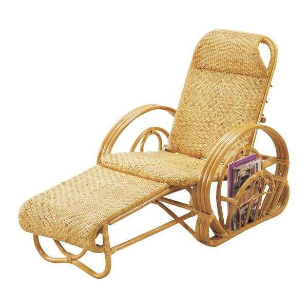 【送料無料】籐三つ折寝椅子 H25A100