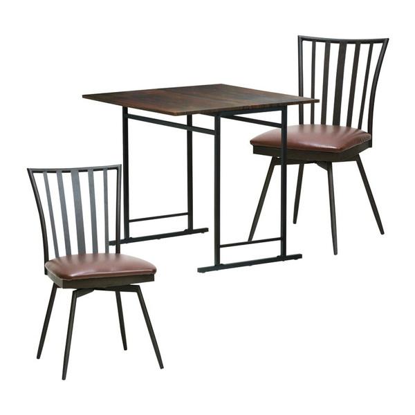 【送料無料】折畳テーブル&チェア2脚セット TH-S7575+CK-K4382 2P