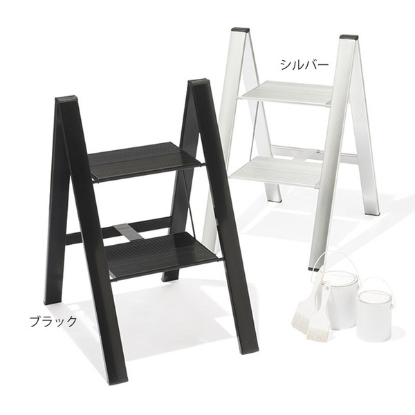 【送料無料】スリムステップ 2段 シルバー SJ-2d(SI)