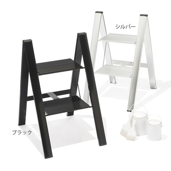 【送料無料】スリムステップ 2段 ブラック SJ-2d(BK)