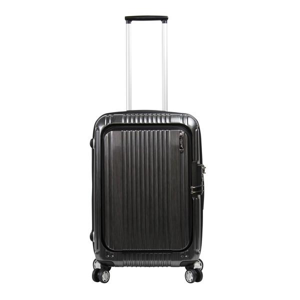 【送料無料】BERMAS PRESTIGEII 48L フロントオープン56c(スーツケース) 60256-10 ブラック 【無料受託手荷物対応可】 容量:48L