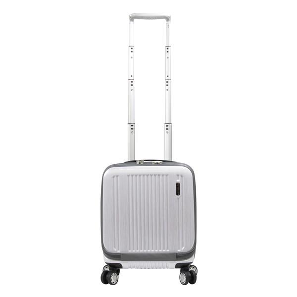 BERMAS PRESTIGEII フロントオープン38c(スーツケース) 60255-20 ホワイト 【LCC機内持込対応可】 【コインロッカー収納対応可】 容量:21L
