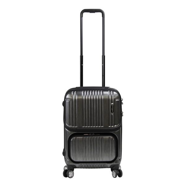 【送料無料】BERMAS INTER CITY 2Pトップオープン ファスナー48c(スーツケース) 60279-10 ブラック 【機内持込対応可】 容量:35L