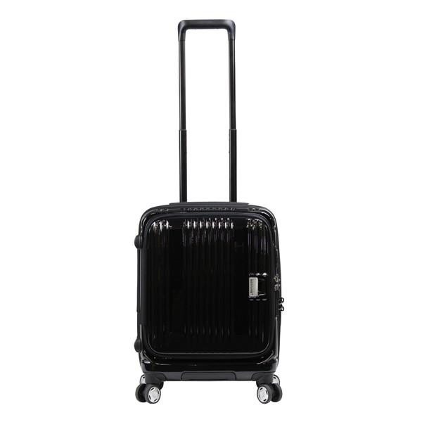 【送料無料】BERMAS EURO CITY 横開きフロントオープン45c(スーツケース) 60290-10 ブラック 【機内持込対応可】 容量:38L