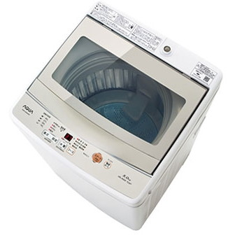 【送料無料】AQUA AQW-GS50G ホワイト [全自動洗濯機(5.0kg)]
