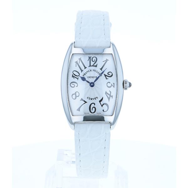 【送料無料】FRANCK MULLER(フランクミュラー) フランクミュラー トノーカーベックス 1752QZ AC 白革 シルバー文字盤 [クォーツ腕時計(レディース)] 【並行輸入品】