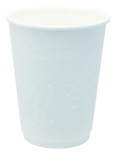 【送料無料】ホワイトWエンボスカップ 410ml 25P×20パック アートナップ 73090109 [使い捨てカップ 紙コップ 使い捨て容器 まとめ買い]