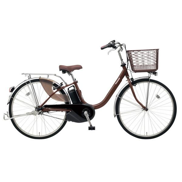 【送料無料】PANASONIC BE-ELL43-T チョコブラウン ビビ・L [電動アシスト自転車(24インチ)]【同梱配送不可】【代引き不可】【本州以外配送不可】