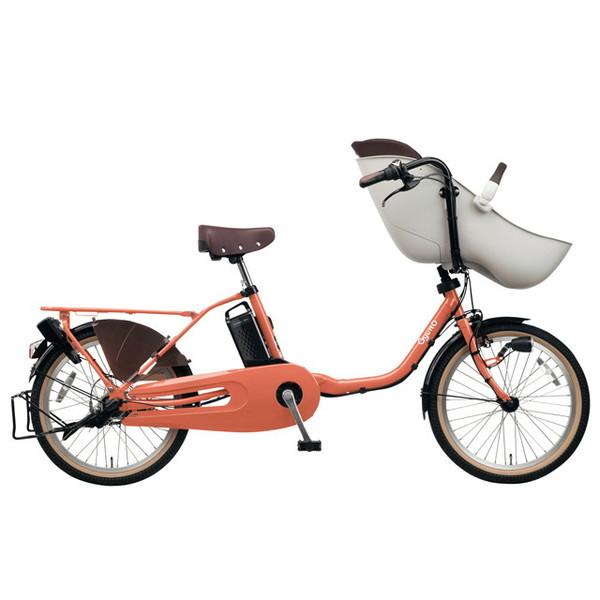 【送料無料】PANASONIC BE-ELFE03-R シアースカーレット ギュット・クルーム・EX [電動アシスト自転車(20インチ)]【同梱配送不可】【代引き不可】【本州以外配送不可】