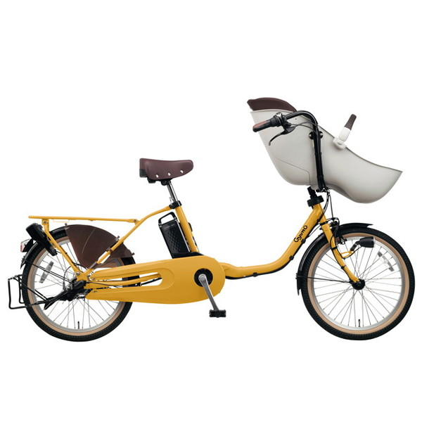 【送料無料】PANASONIC BE-ELFE03-Y マットハニー ギュット・クルーム・EX [電動アシスト自転車(20インチ)]【同梱配送不可】【代引き不可】【本州以外配送不可】