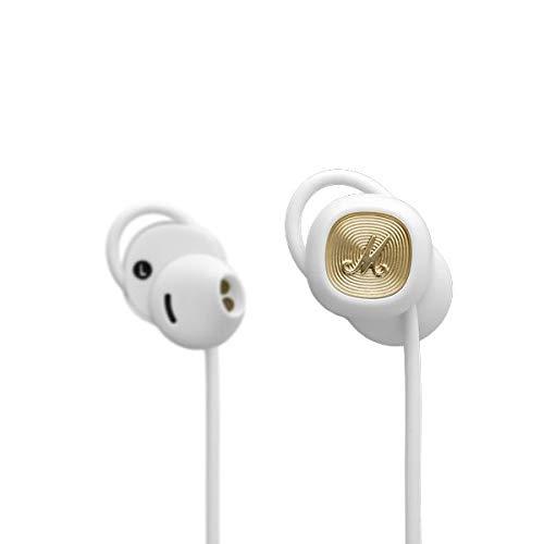 【送料無料】Marshall イヤホン Bluetooth5.0 aptX ワイヤレス apt-x 重低音 1回の充電で12時間再生可能 イヤーフィットシステム コントロールノブ ハンズフリー通話 ブルートゥース ZMH-04092261 White MINOR II Bluetooth