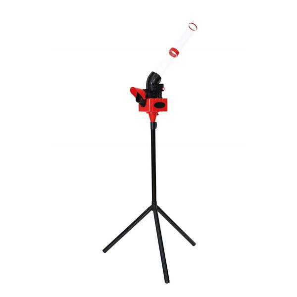 【送料無料】シャトルマシン バドミントン スマッシュ練習 CALFLEX CT-015RD レッド 野球 バッティング練習 ナイロンシャトルコック・フェザーシャトルコック使用可能 練習器具