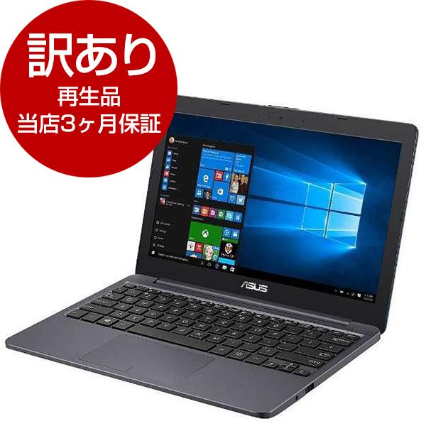 【送料無料】【再生品 当店3ヶ月保証付き】ASUS E203NA-464G スターグレー VivoBook E203NA [ノートパソコン 11.6型ワイド液晶 eMMC64GB]【アウトレット】