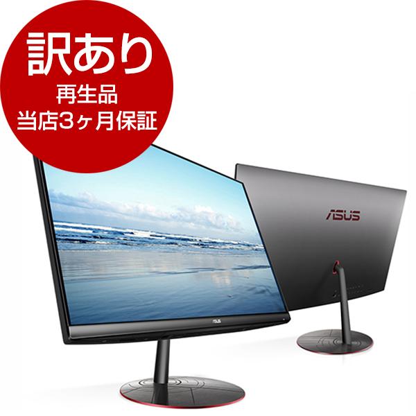 【送料無料】【再生品 当店3ヶ月保証付き】ASUS ZN242IFGK-I51050 ブラック Zen AiO [デスクトップパソコン 23.8型モニタ一体型 HDD 1TB SSD 128GB]【アウトレット】
