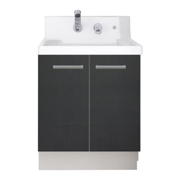 LIXIL K1N4-605SYN/YD2H K1シリーズ [洗面化粧台本体(間口600mm・両開きタイプ・シングルレバーシャワー水栓・寒冷地仕様)]
