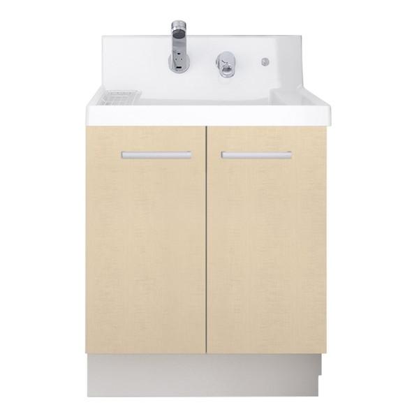 LIXIL K1N4-605SYN/YL2H K1シリーズ [洗面化粧台本体(間口600mm・両開きタイプ・シングルレバーシャワー水栓・寒冷地仕様)]