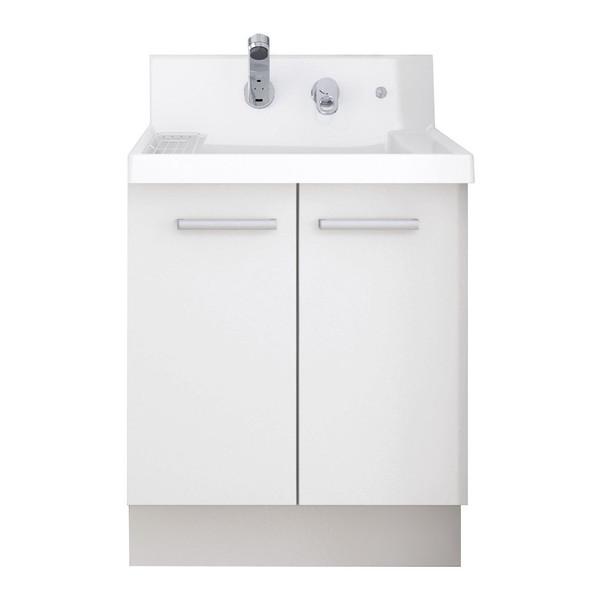 【送料無料】LIXIL K1N4-605SYN/YS2H K1シリーズ [洗面化粧台本体(間口600mm・両開きタイプ・シングルレバーシャワー水栓・寒冷地仕様)]