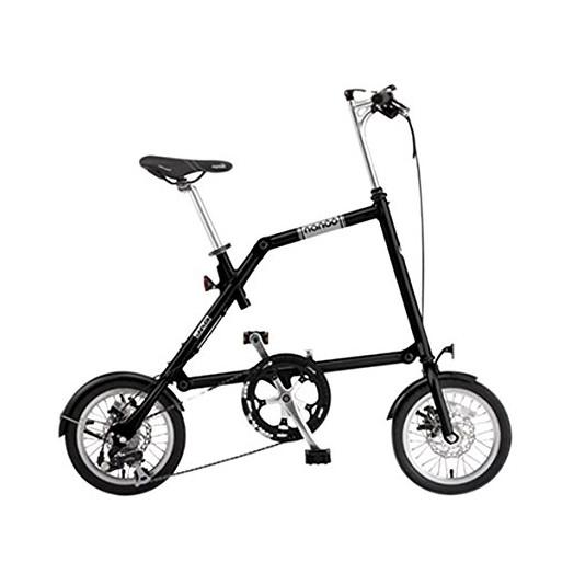 【送料無料】nanoo FD-1408 ブラック(23634) [折りたたみ自転車(14インチ・8段変速)] 【同梱配送不可】【代引き・後払い決済不可】【沖縄・北海道・離島配送不可】