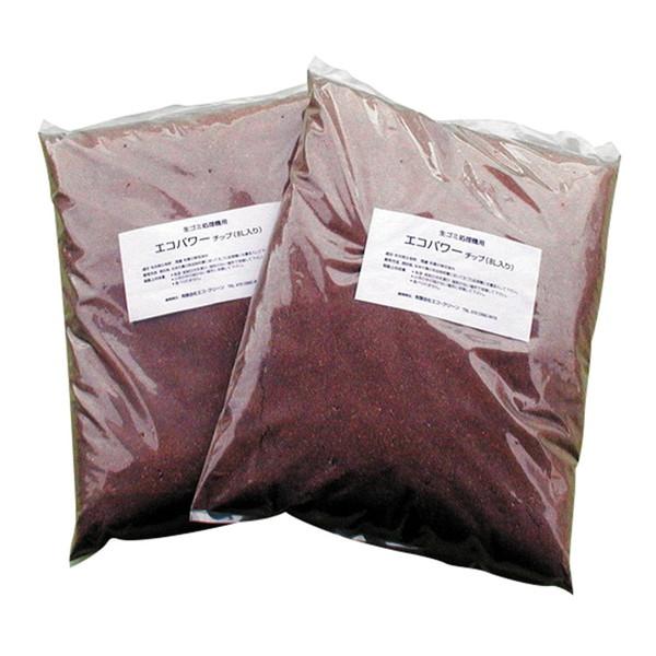 家庭用 生ごみ処理機 自然にカエル用交換チップ材 エコクリーン エコパワ-チップ2袋組 ギフ_包装 ECS-121 海外並行輸入正規品 自然にカエル用