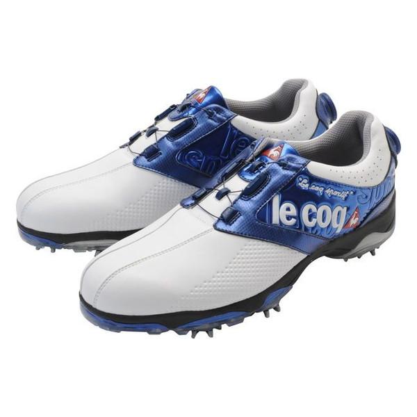 【送料無料】ルコック le coq sportif メンズゴルフシューズ ダイヤル式 ソフトスパイク QQ0592 XN10 ホワイト/ブルー 27 【日本正規品】
