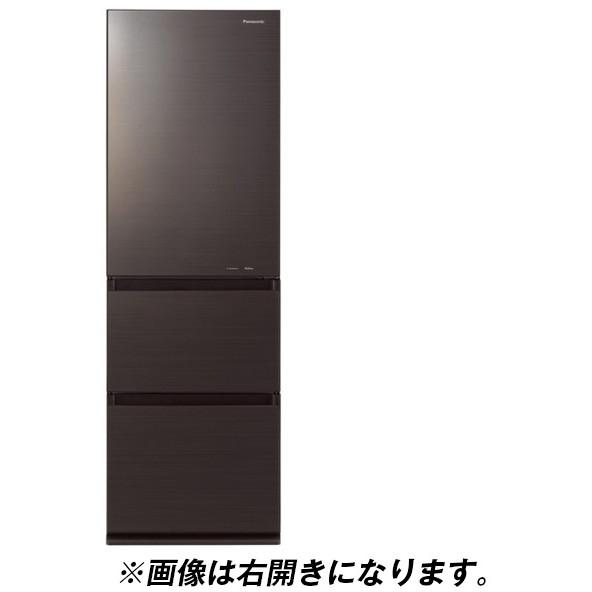 【送料無料】PANASONIC NR-C370GCL-T ダークブラウン [冷蔵庫(365L・左開き)]