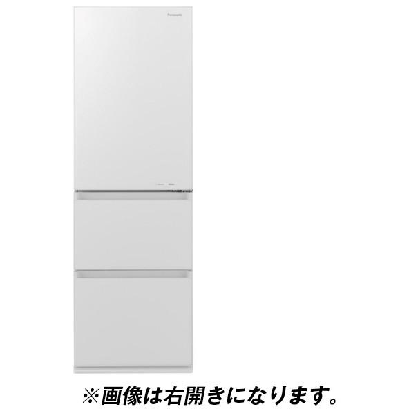 【送料無料】PANASONIC NR-C370GCL-W スノーホワイト [冷蔵庫(365L・左開き)]