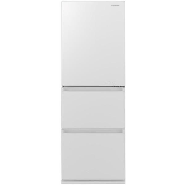 【送料無料】PANASONIC NR-C340GC-W スノーホワイト [冷蔵庫(335L・右開き)] 【代引き・後払い決済不可】【離島配送不可】