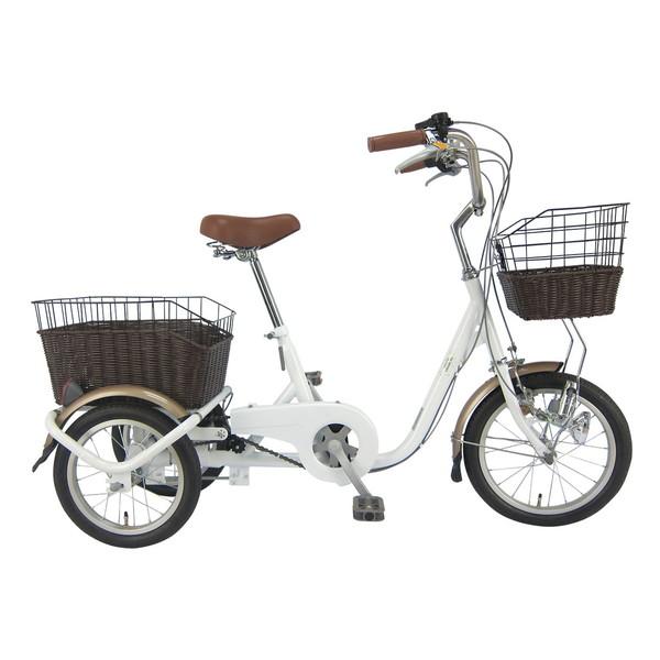 【送料無料】SWING CHARLIE MG-TRW16G ホワイト [ロータイプ三輪自転車(16/14インチ)] 【同梱配送不可】【代引き・後払い決済不可】【沖縄・北海道・離島配送不可】