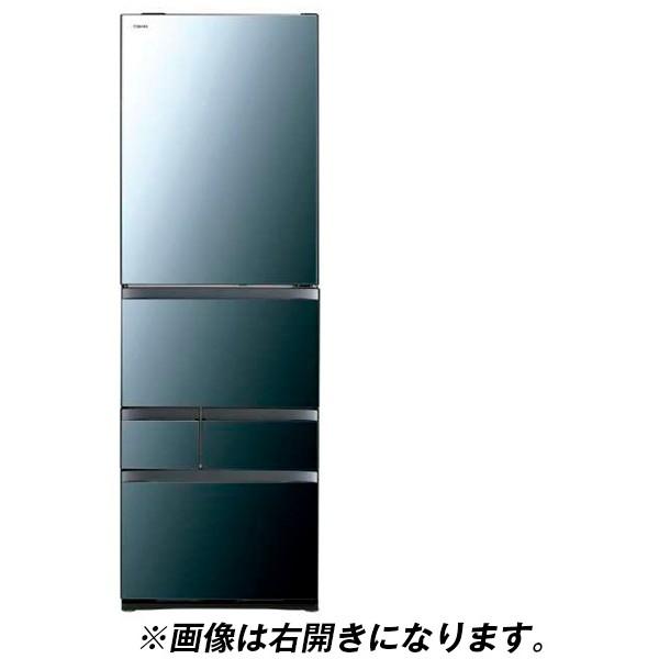 東芝 GR-R470GWL(XK) クリアミラー VEGETA [冷蔵庫(465L・左開き)] 【代引き・後払い決済不可】【離島配送不可】