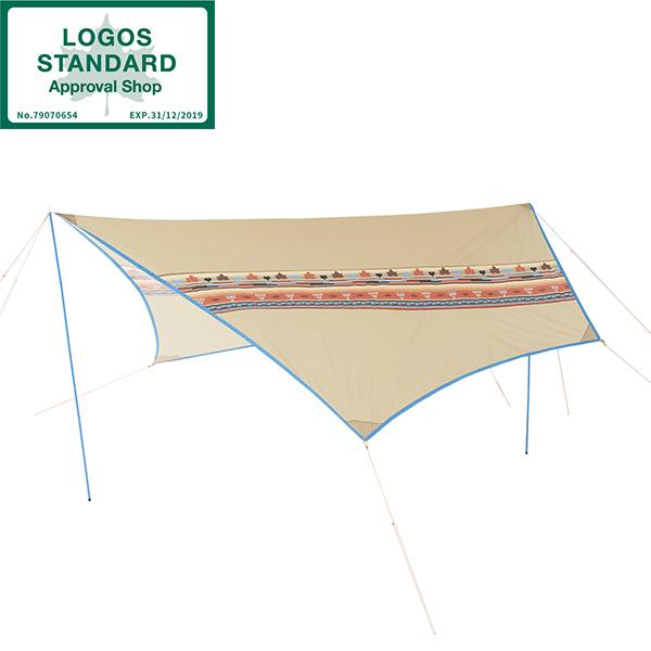 タープ ロゴス LOGOS ナバホ Tepee ブリッジヘキサタープ AE No.71806509 キャンプ アウトドア BBQ uvカット加工 日差し避け 専用キャリーバッグ付き