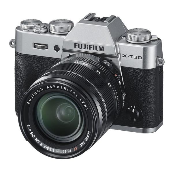【送料無料】富士フィルム X-T30 XF18-55mmレンズキット シルバー [ミラーレス一眼カメラ(2610万画素)]