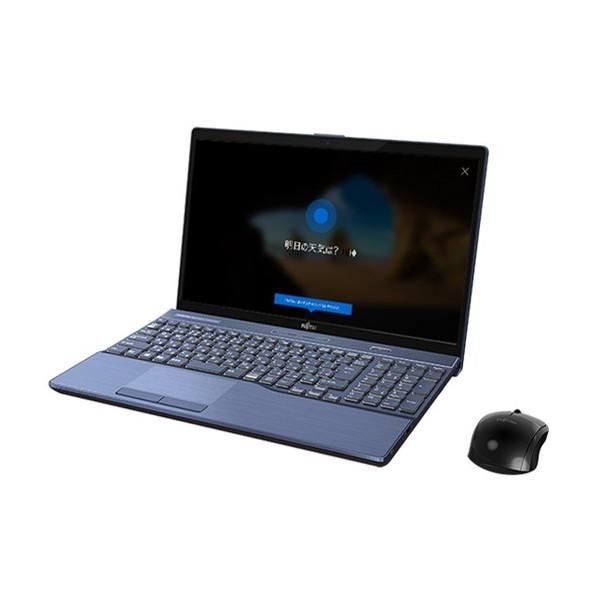 【送料無料】富士通 FMVA77C2L メタリックブルー FMV LIFEBOOK [ノートパソコン 15.6型ワイド液晶 HDD1TB SSD128GB ブルーレイドライブ]