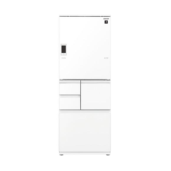 冷蔵庫 シャープ SHARP SJ-WA50E-W 白 ホワイト 500L ガラスドア 大型 右開き 左開き 両開き どっちもドア プラズマクラスター 節電