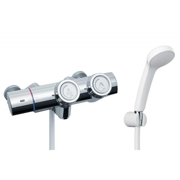 LIXIL RBF-815N INAX [プッシュ式 サーモスタット付シャワーバス水栓 (寒冷地用) エコフルシャワー 洗い場専用]