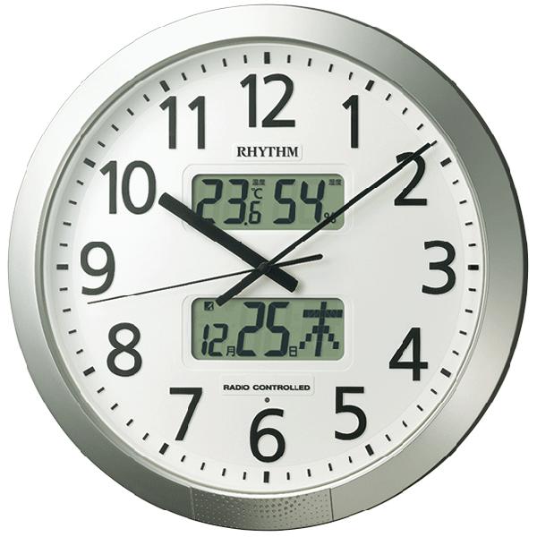 【送料無料】リズム時計工業 4FN404SR19 シルバー [電波掛時計]