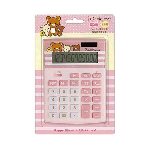 San-X 電卓(CH/M) EM30601 ピンク リラックマ